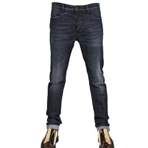 John Galliano - 17Cm Stretch Distressed Slim Fit Jeans