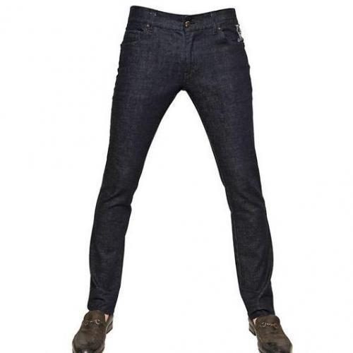 John Richmond - 18,5 Cm Washed Stretch Denim Jeans