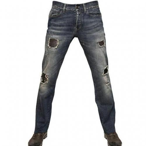John Richmond - 21Cm Destroyed Washed Ketten Jeans