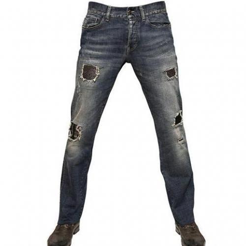 John Richmond - 21Cm Destroyed Washed Ketten Jeans