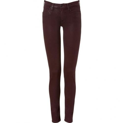 Juicy Couture Dark Cabernet Coated Skinny Jeans