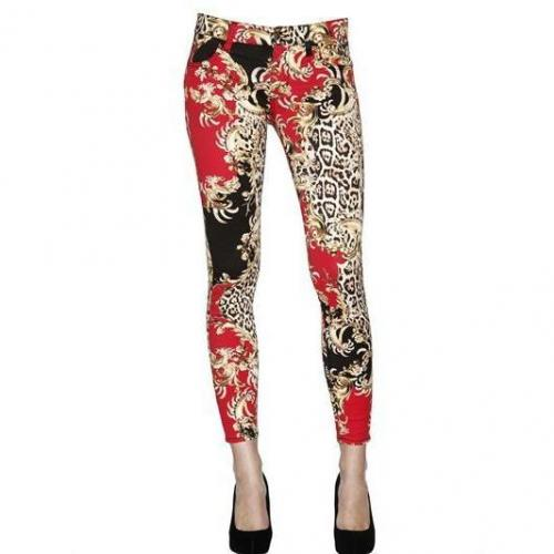 Just Cavalli - Bedruckte Drill Stretch Skinny Jeans