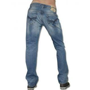 Kaporal Herren Jeans Ambrose Blue Washed
