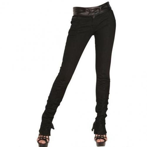 Karl Lagerfeld Paris - Leder Stretch Denim Skinny Jeans