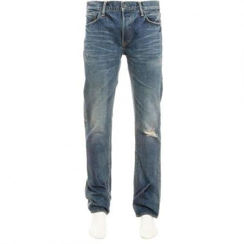 Kuro Jeans Graphite Classic blue Used Look