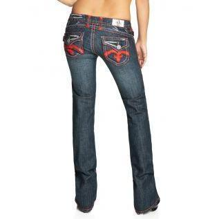 Laguna Beach Jean Co. Damen Jeans Crystal Cove Blau Bootcut