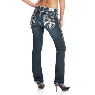 Laguna Beach Jean Co. Damen Jeans Crystal Cove Blau Straight Leg