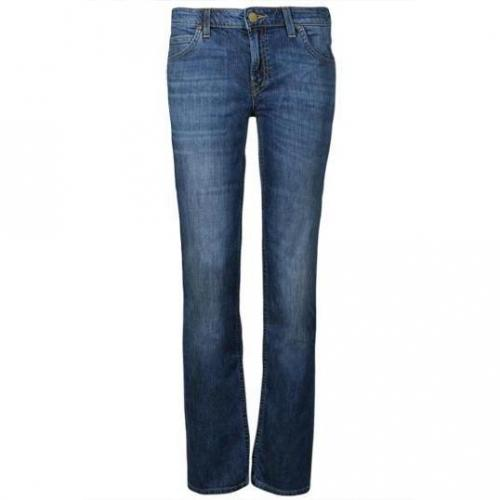 Lee - Boot Cut Modell Marion Straight Dark Worn Farbe Dunkelblau