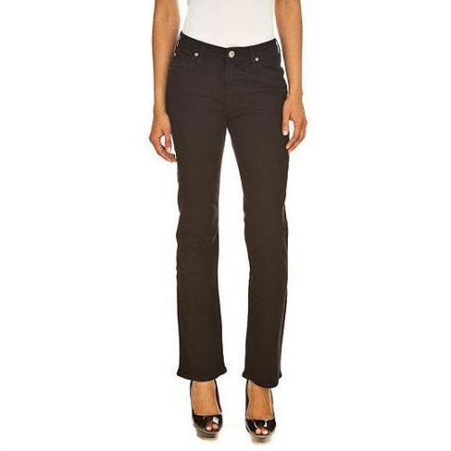 Lee - Boot Cut Modell Marion Straight Solid Farbe Schwarz