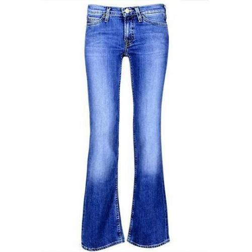 Lee - Boot Cut Modell New Leola Heritage Blue Farbe Blaue Waschung