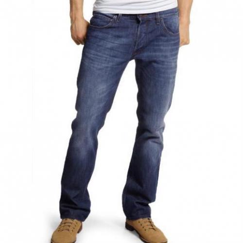 Lee Knox dark worn Straight Leg Jeans