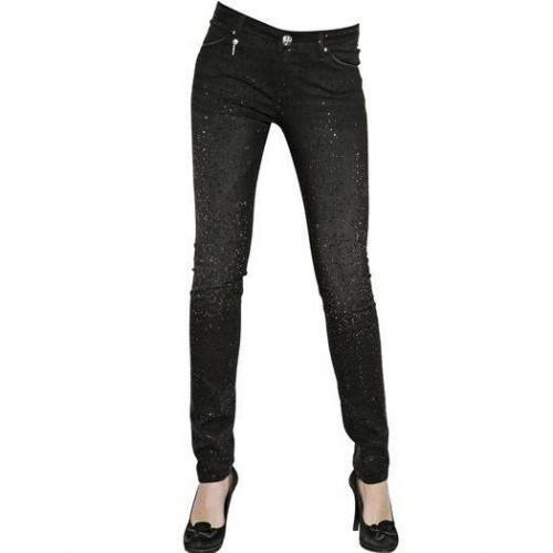 Lerock - Push Up Swarovski Stretch Skinny Jeans Painting Sprites