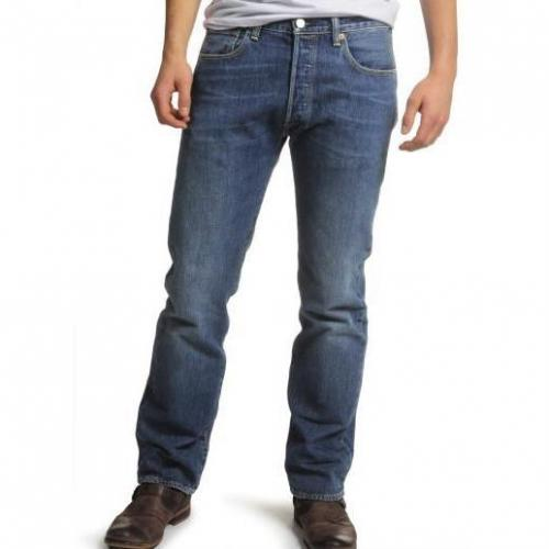 Levi's 501 Button Fly blau light washed