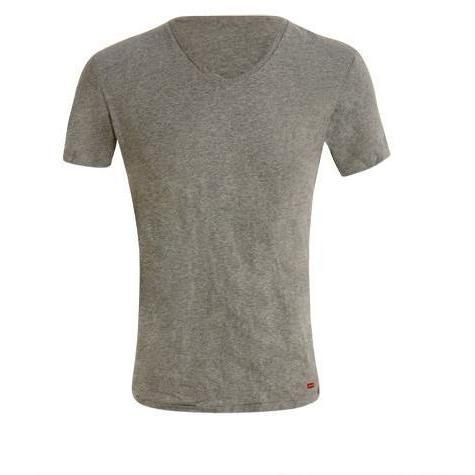 Levi's - 2 Pack V Neck Tee Slim Fit Grey White/Heather Grey Bunt