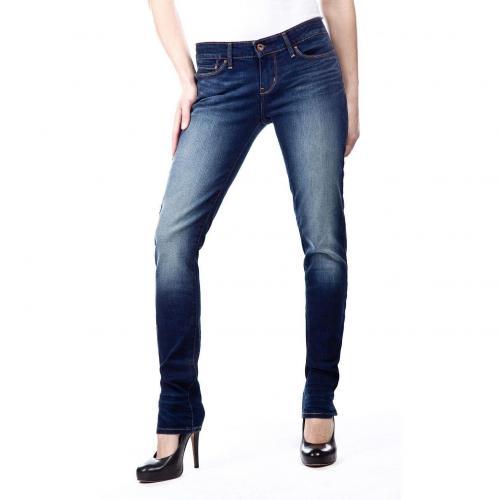 levis slight curve skinny jeans slim fit dark used. Black Bedroom Furniture Sets. Home Design Ideas