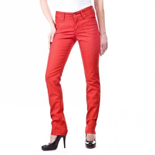 MAC Skinny Jeans Slim Fit Rot