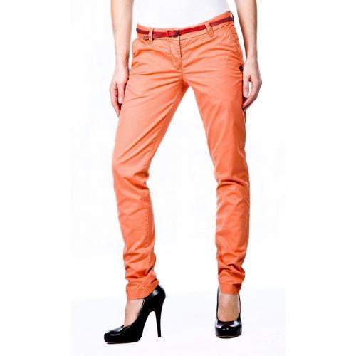 maison scotch bella chino straight fit orange. Black Bedroom Furniture Sets. Home Design Ideas