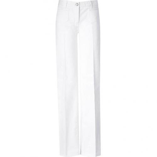 Maje White Bell-Bottom Jeans