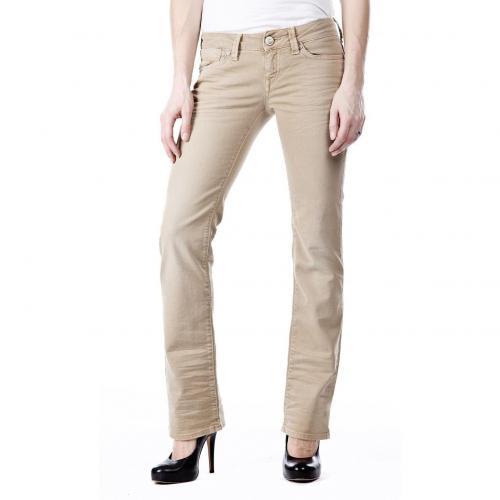 Mavi Olivia Jeans Beige Straight Fit