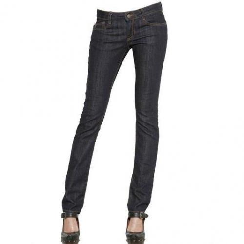 Mcq Alexander Mcqueen - Gewachste Denim Stretch Skinny Jeans