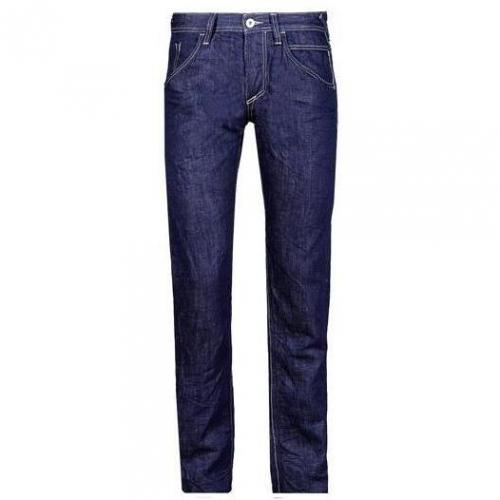 Meltin Pot - Hüftjeans MP001 Cotton/Linen Denim - Rinse & Whisker Dunkel