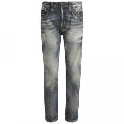 Meltin Pot - Hüftjeans MP005 Raw Denim with naps used and whisker