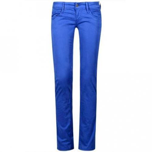 Meltin Pot - Skinny Modell Monie Stretch Satin - Rinse Wash Farbe Blau