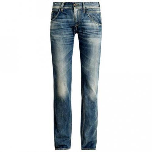 Meltin Pot - Slim MP002 Blue Denim used and broken D1082 Blaue Waschung