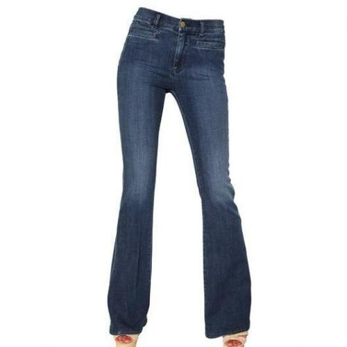 Mih Jeans - Marrakesh Stretch Denim Kick Flare Jeans Hellblau