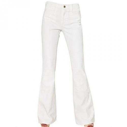 Mih Jeans - Marrakesh Stretch Denim Kick Flare Jeans Snow White