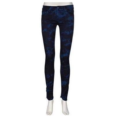 Mother Jeans The Looker Blau Batik