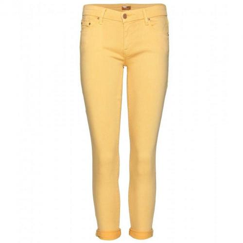 Mother The Looker Cropped Skinny Jeans Yellow