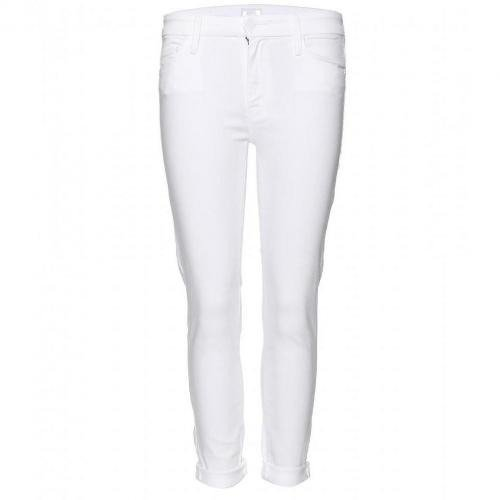 Mother The Looker High Waisted Cropped Skinny Jeans