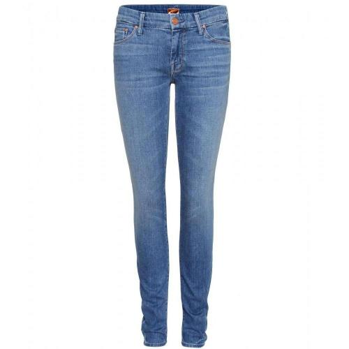 Mother The Looker Mid-Rise Cropped Skinny Jeans