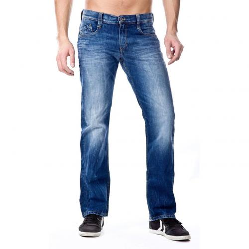 Mustang New Oregon Jeans Straight Fit Stone Used