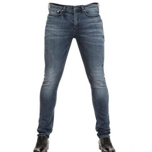 Neil Barrett - 15Cm Super Skinny Stretch Jeans Blau