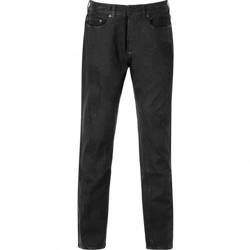 Neil Barrett Black Coated Slim Fit Low Rise Jeans
