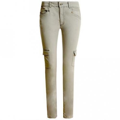 Nikita - Slim Modell Cargo Jeans smoke Farbe Grau