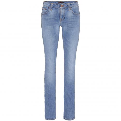 Nudie Damen Jeans Tube Kelly Blue Used Light