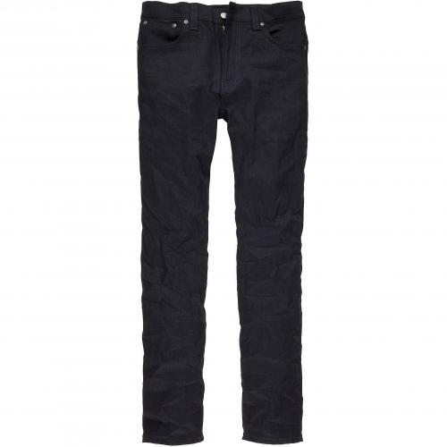 Nudie Herren Jeans Tape Ted Black Black Ring