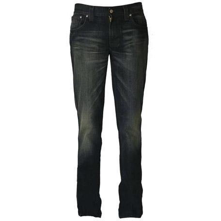 Nudie - Hüftjeans Slim Jim Used Blue Coated Blau