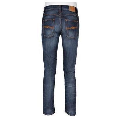 Nudie Jeans Bio-Jeans Grim Tim Organic WHT Knee