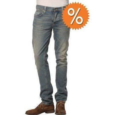 Nudie Jeans GRIM TIM Jeans strikey grün indigo