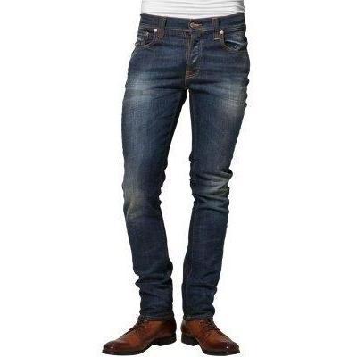 Nudie Jeans GRIM TIM Jeans weiß knee