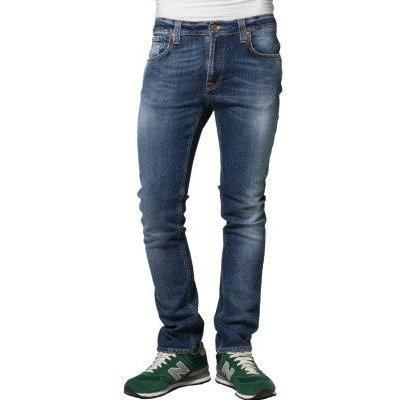 Nudie Jeans THIN FINN Jeans light dunkelblau embo