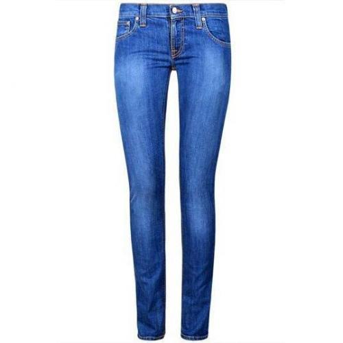 Nudie - Slim Modell Tight Long John Flat Denim Farbe Blau