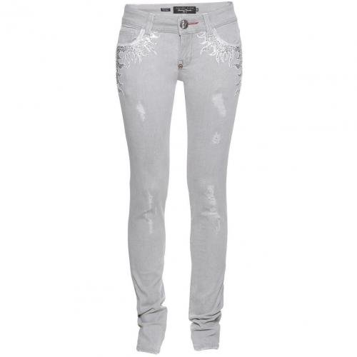 Philipp Plein Couture Slim Fit Crystal Flames