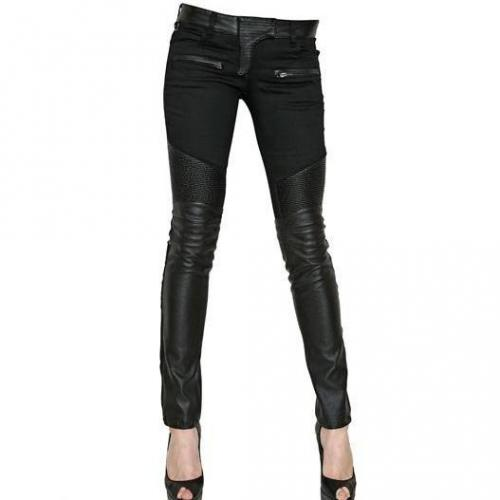 Philipp Plein - Eco Nappa Auf Stretch Baumwoll Denim Jeans