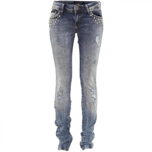 Philipp Plein Jeans Crystal Cake California Blue