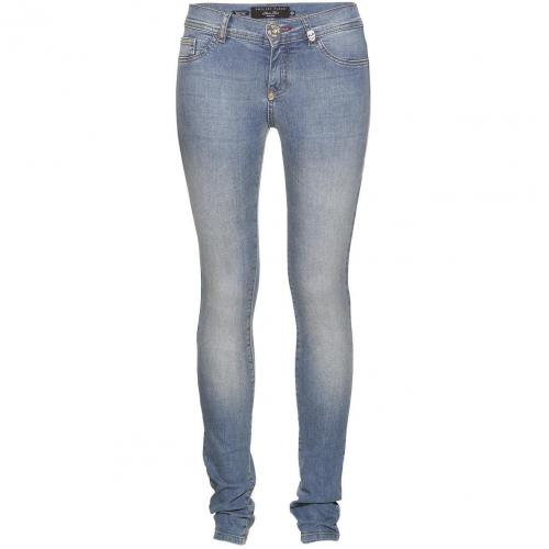 Philipp Plein Jeggings Devils Food Malibu Blue
